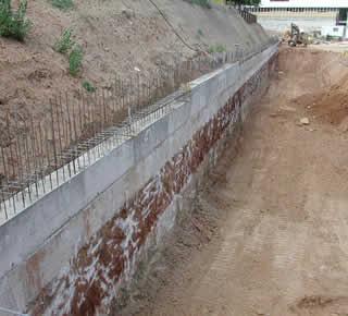 Imperm abilisation de murs de soutenement - Impermeabiliser un mur exterieur ...