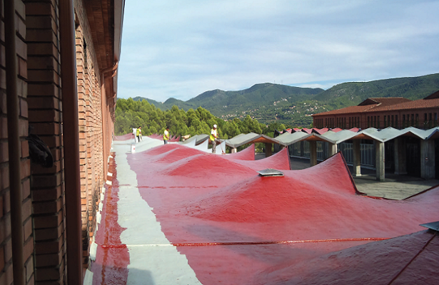 ROOF WATERPROOFING <br> Caves Codorniu a Sant Sadurní d'Anoia
